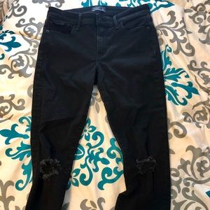 Abercrombie black ripped jeans